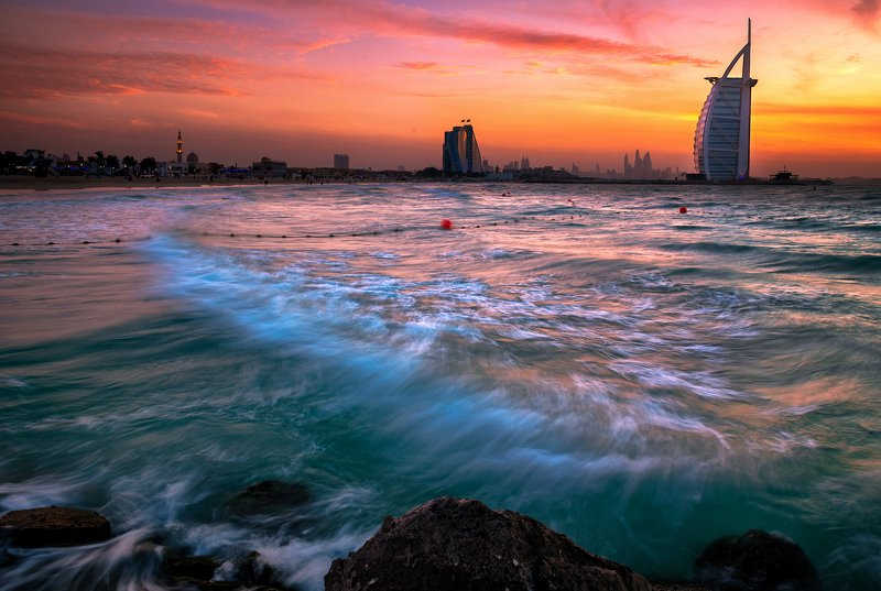 sunset Sunset in dubaiphoto preview