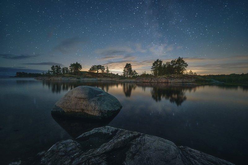 Ладога, ночь, звёзды Звёзды над Ладогойphoto preview