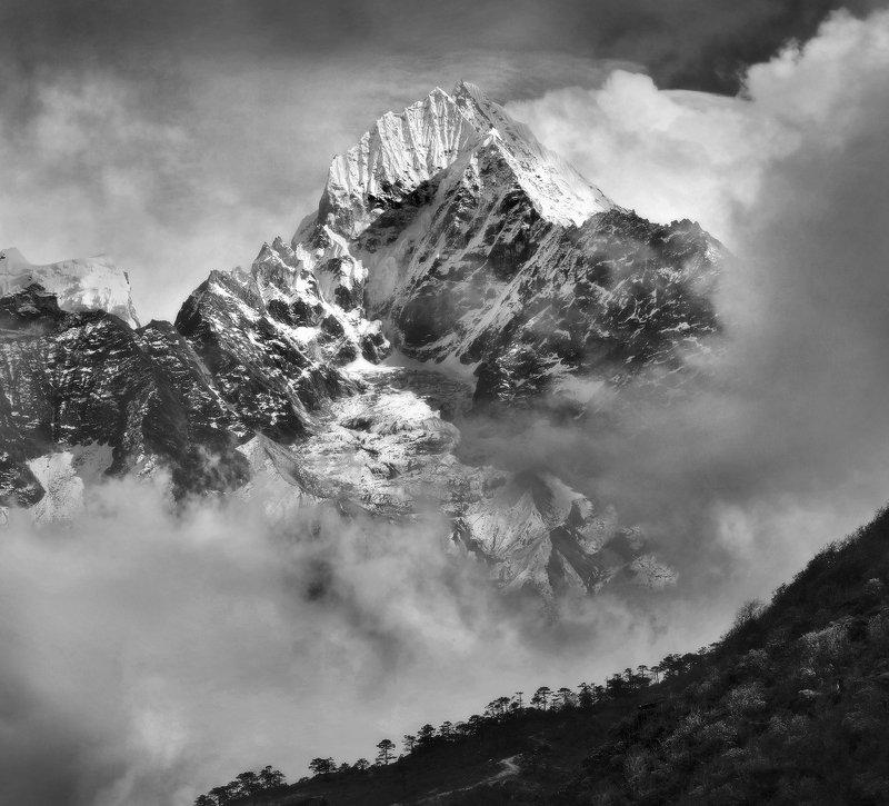 гималаи, тхамсерку, горы, непал Тхамсерку. Из серии \