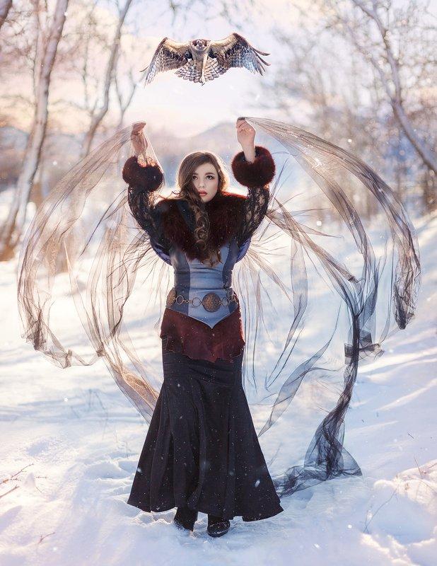 зима, постановочная фотография, fineart, сказка, готика, tyagushovaphoto, gothic Fabulous winterphoto preview