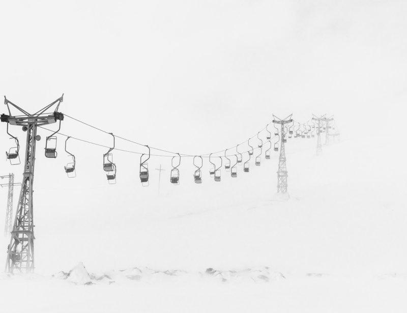 снег, гора, подъемник, метель, горнолыжный подъемник, чегет, эльбрус, зима, холод, белый, черный, snow, winter, ski lift, elbrus Бесконечностьphoto preview