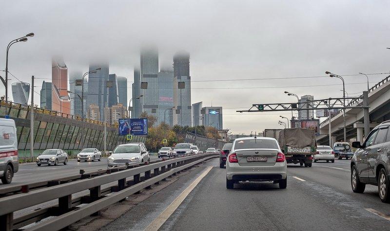 На машине по Москвеphoto preview