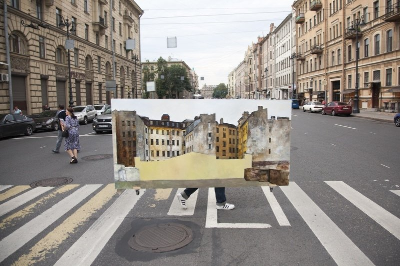 картина, внезапно, композиция, лето, дорога Картина переходит дорогуphoto preview