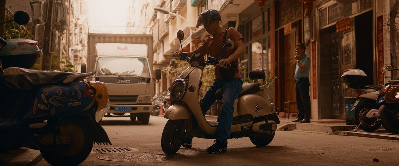 bike, motorcycle, man, street, sun, shadow, cinematic, cine, colors, colorgrade, colorgrading Going somewherephoto preview