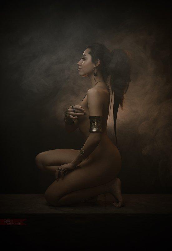 nu, nude, ню портрет в кофейных тонахphoto preview