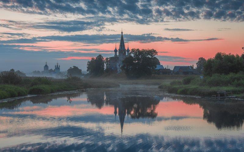 дунилово, рассвет, река, утро, лето На зареphoto preview