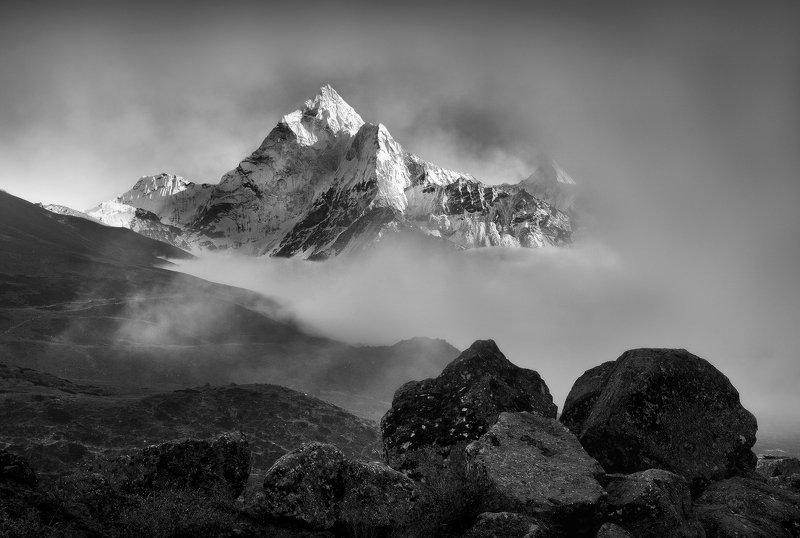 гималаи, тхамсерку, горы, непал Из серии \