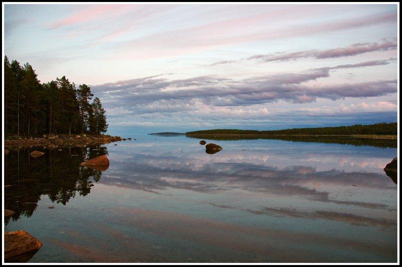 отражение, фото, белоеморе, пейзаж, ночь, Зеркалоphoto preview