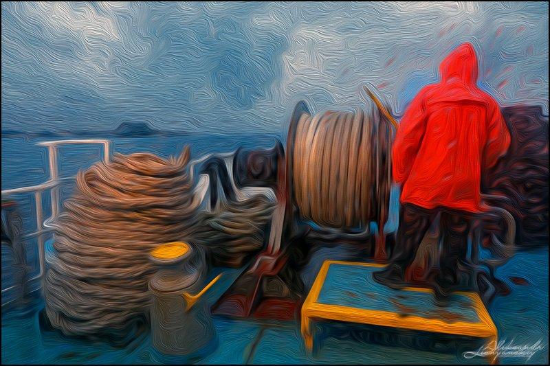 Греция, Корфу Морской паром прибывает на о.Корфуphoto preview