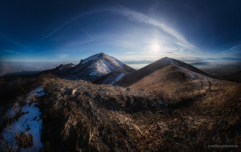 бештау, горы, закат, кмв На облачных берегах Бештау...photo preview