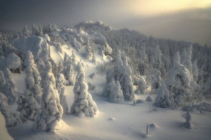 таганай, урал, горы, зима, лес Стражники зимыphoto preview