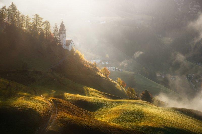 пейзаж, природа, горы, италия, доломиты La Valle Wengenphoto preview