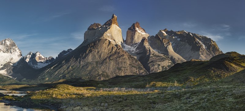 cuernos del paine, torres del paine, chile, patagonia Great Cuernosphoto preview