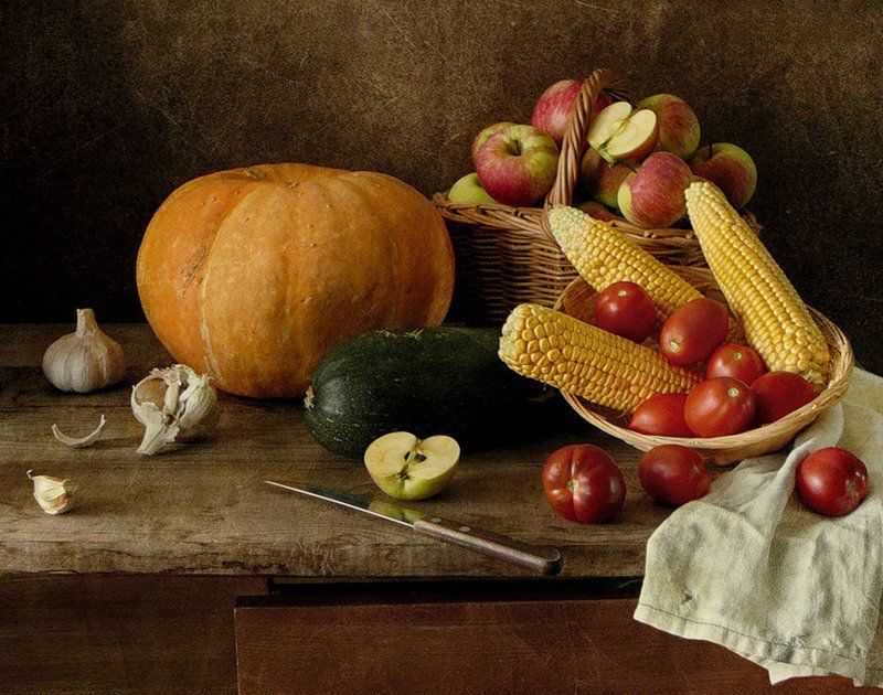 Картинки натюрморт с фруктами и овощами, ирина спасибо большое