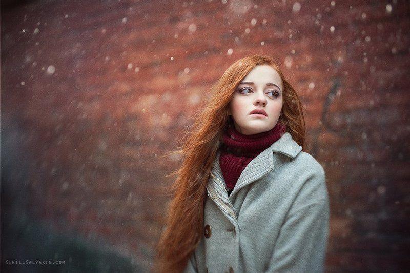 девушка, портрет, снег, грусть Sorrow v2photo preview