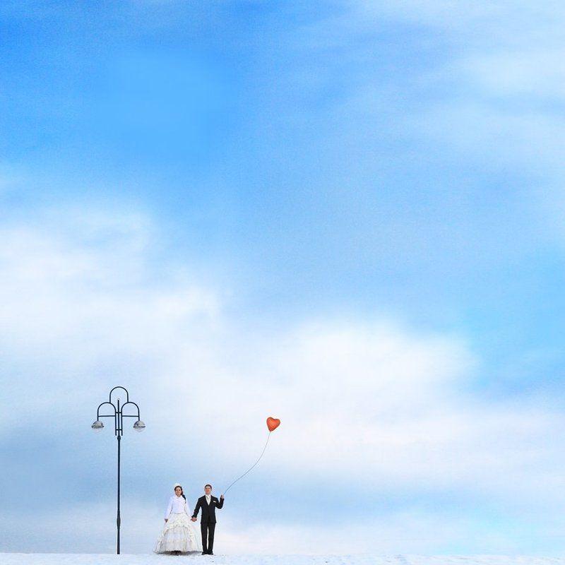 свадебное, пара, небо ***photo preview