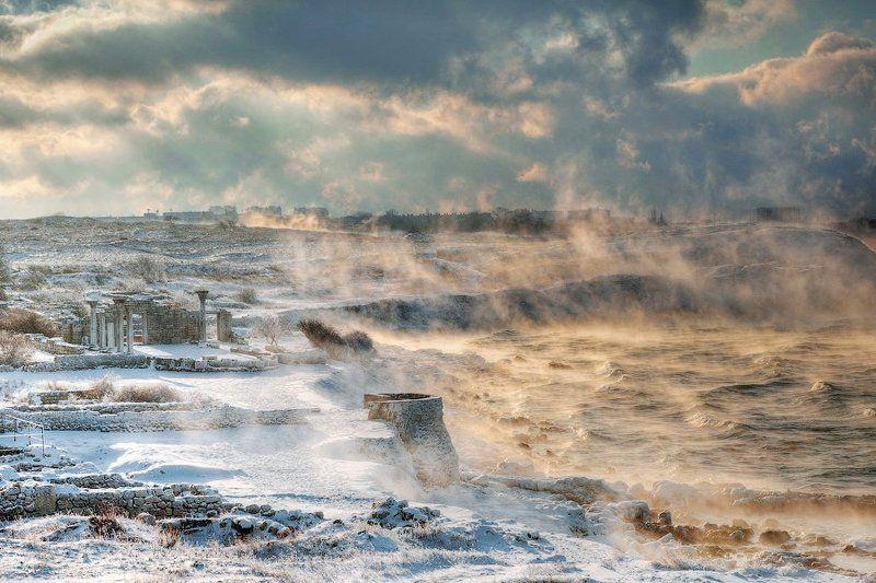 херсонес, зима Застывший полис Византии. Зимаphoto preview