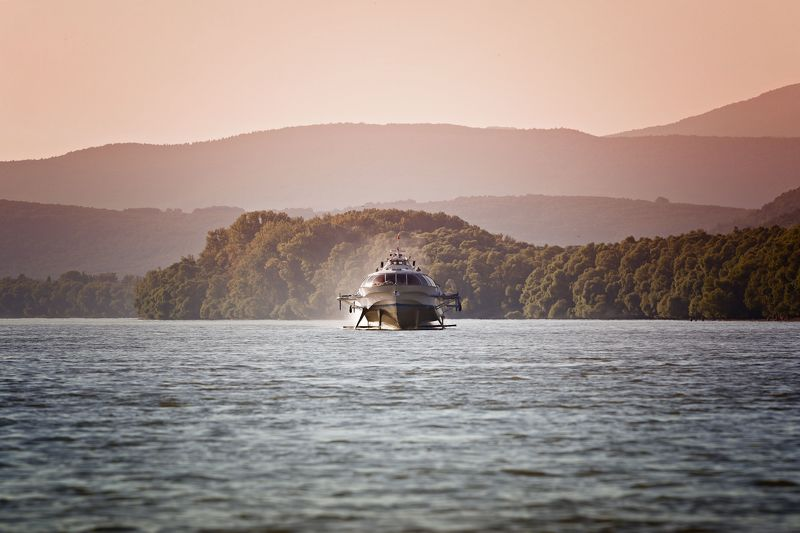 transportation, ship, danube, hungary, photography, boat, mycountry, water,  Hydrofoil on the Danubephoto preview
