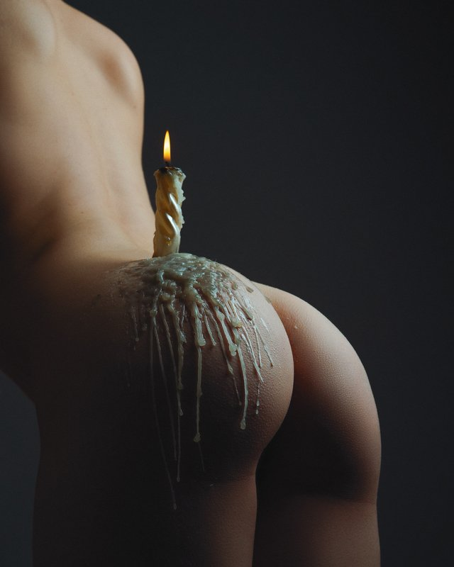 female, fine, art, nude, nudes, bdsm, maked, woman, sexy, sexuality, beauty, candle, candlestick, light, dark, sensual, butt, back, body, ass Candlestickphoto preview