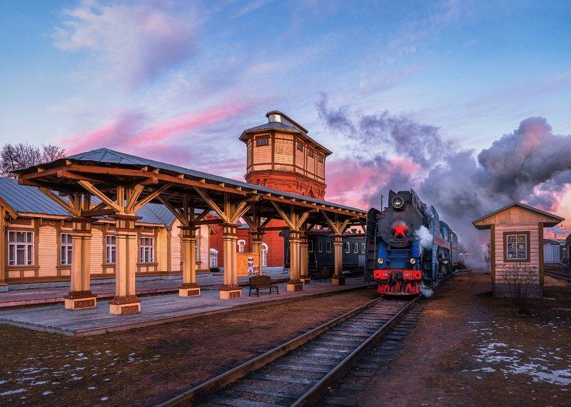 москва, паровоз, поезд, депо, moscow, транспорт станция Подмосковнаяphoto preview