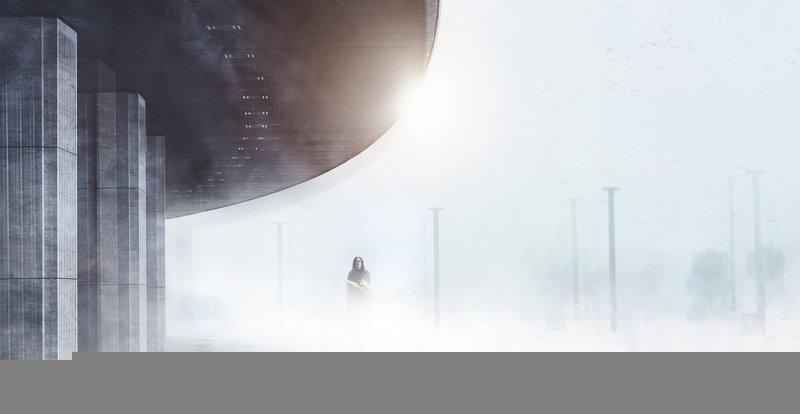 девушка,туман,саксофон Девушка с саксофономphoto preview
