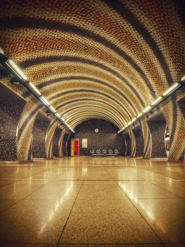 architecture, budapest, hungary, underground, metro station, urban, city, photography, citylife Lines...photo preview