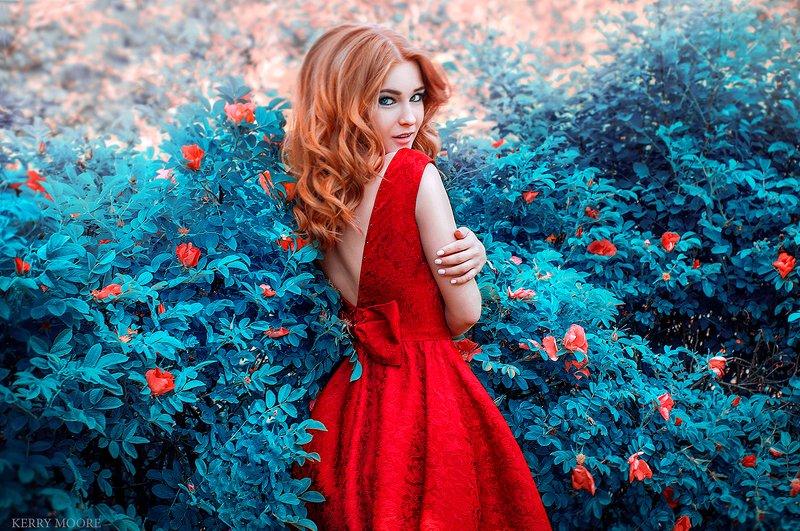 portrait, girl, beauty, freckles, dream,  портрет, рыжая, цветы, fantasy,fashion Tatyanaphoto preview