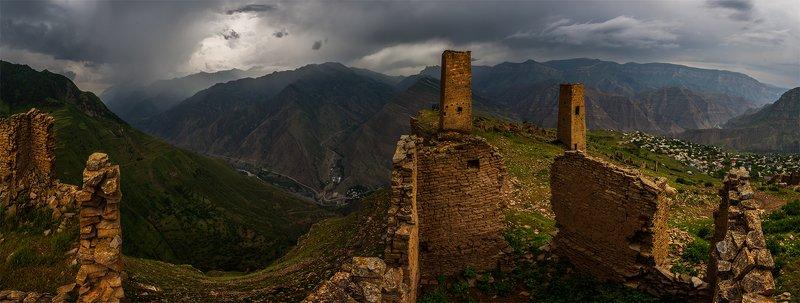 природа, пейзаж, горы, кавказ, природа россии, дикая природа, закат, свет, облака, вечер, весна, *photo preview