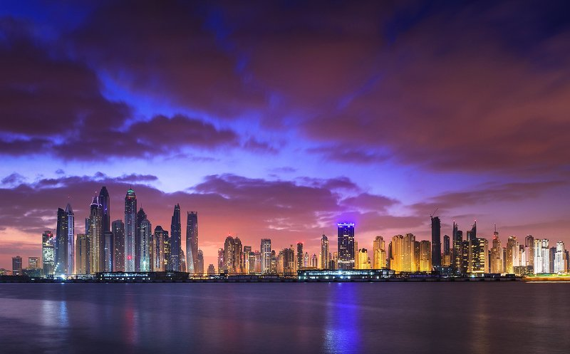 dubai, sunrise, modern, arabic, jumeirach, marina, Sunrise in Dubaiphoto preview