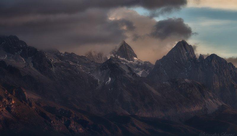 горы, облака, тибет Восточный тибетphoto preview