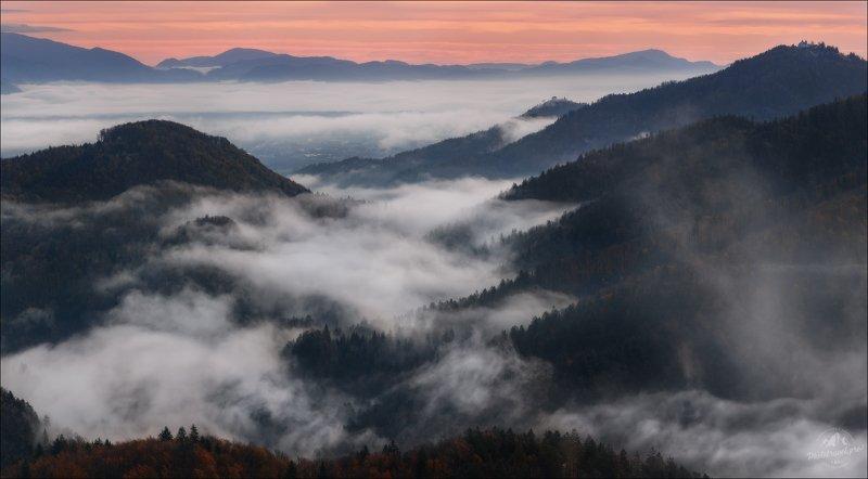 Словения, Slovenia, Jamnik, туман Страна туманов .. фото превью