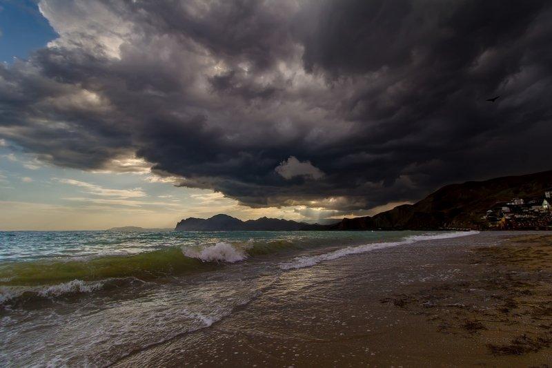 крым, море, черное Надвигается... фото превью