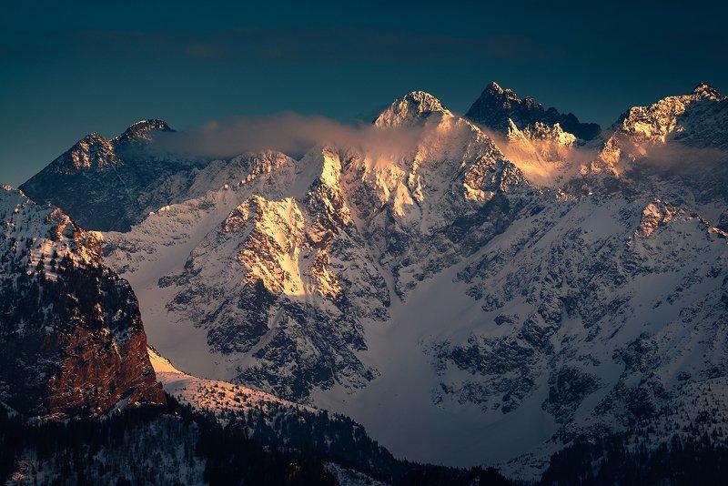 europe, mountains, slovakia, sunset Tatra Mountainsphoto preview