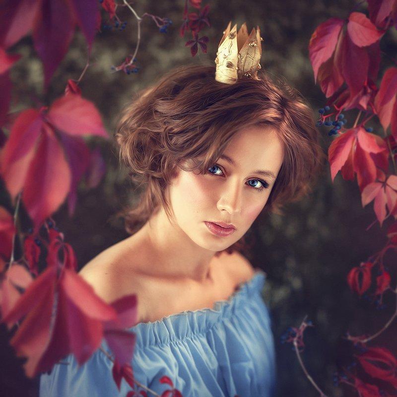 принцесса, женский портрет, портрет, корона, царевна, сказка Виноградphoto preview