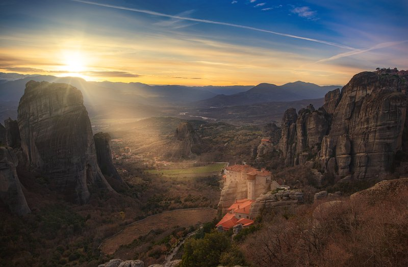 Sunset at Meteora, Greecephoto preview
