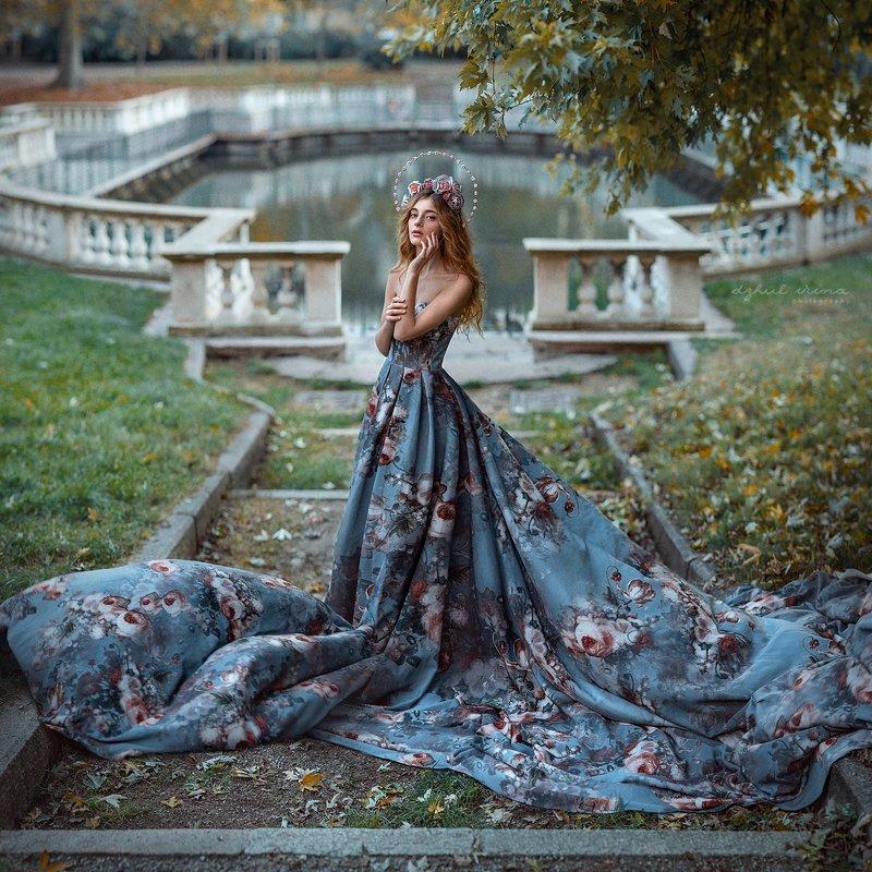 portreit people girl woman irinadzhul dzhulirina green Rosephoto preview