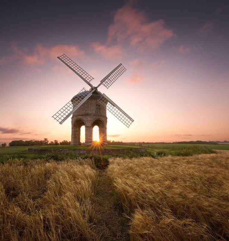 uk, england, windmill, sunrise Old windmillphoto preview