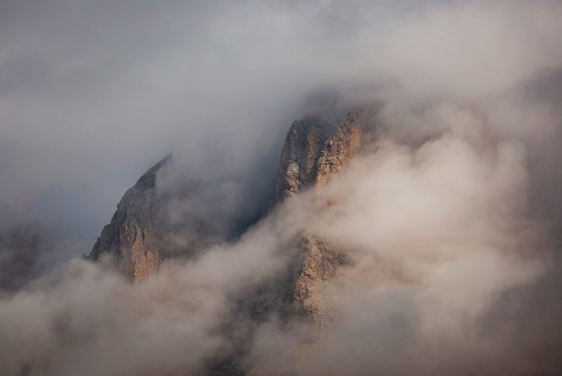 mountains, dolomites, italy, sunrise, landscape, nature, travel, summer, peak, clouds Breath of the Mountainphoto preview