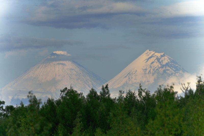 вулканы, камчатка, фото, ключевской, камень Великаныphoto preview
