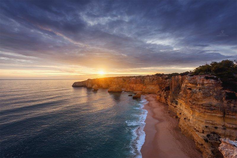 португалия, закат, алгарве, пейзаж, океан, атлантика Краски Южного берегаphoto preview
