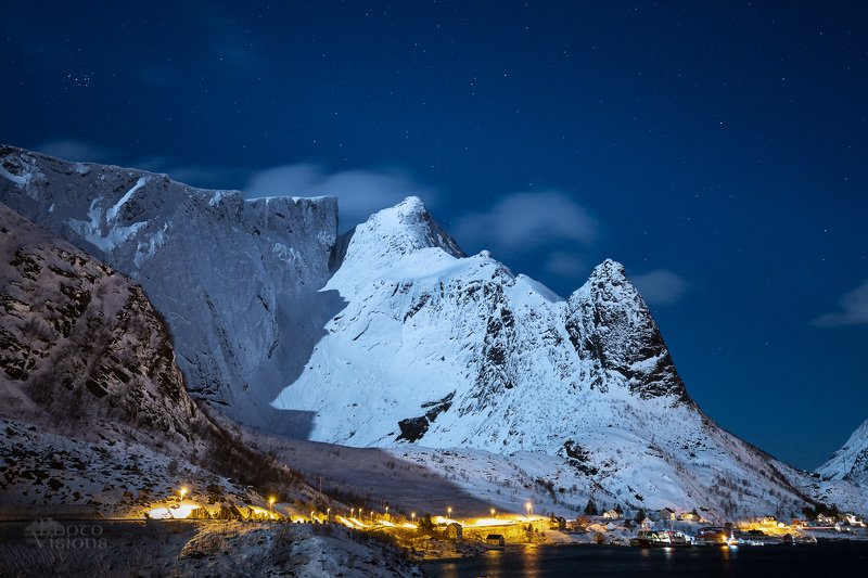 reine,lofoten,norway,night,sky,winter Night time over Reinephoto preview