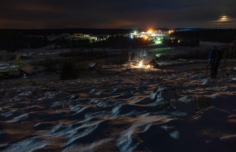 лысьва, ночь, луна, звезды, матвеево д. Матвеево, Пермский край, Лысьвенский р-онphoto preview
