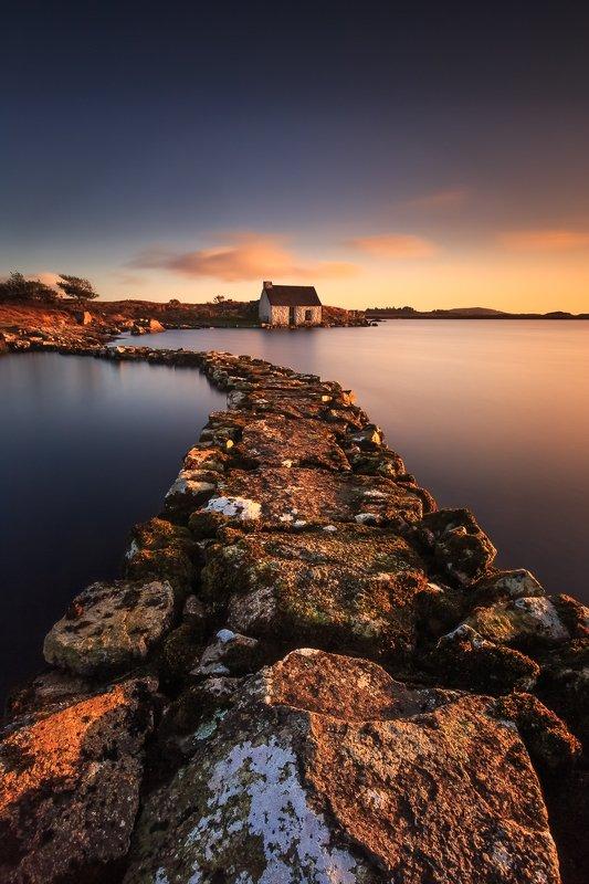 longexposure, long exposure, landscapes, ireland, sunrise Fishing House photo preview