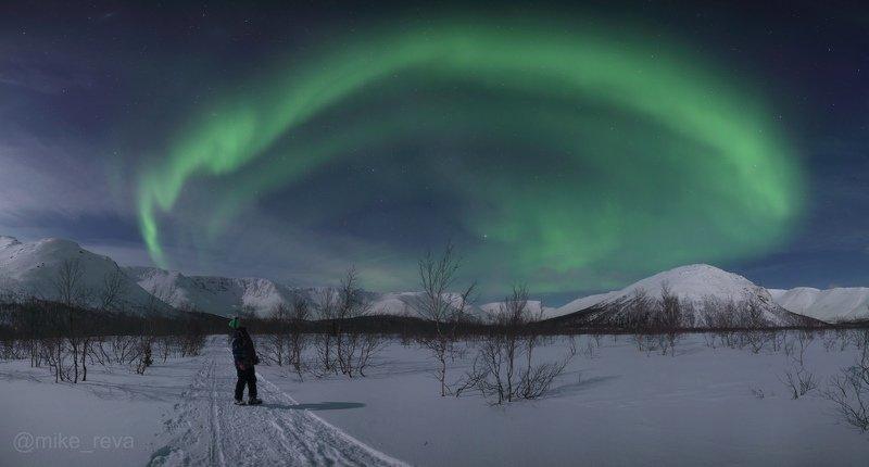 ночь звезды северное сияние ночной пейзаж астрофотография хибины кировск малый вудъявр Краски севера IIphoto preview