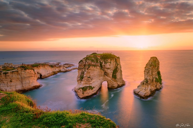 sunset bayrock landscape horizon colors The Bay Rockphoto preview