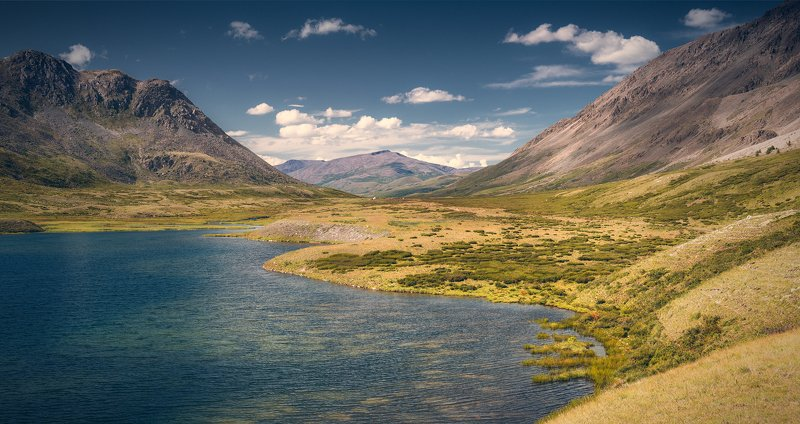 пейзаж, панорама, горы, озеро, алтай, сибирь, природа, путешествия, буйлюкем, ущелье, река, дно, камни Буйлюкемphoto preview