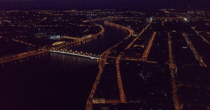 санкт-петербург_нева_финляндский вокзал_литейный мост_набережные_петроградская сторона Ночь и тишина, данная на век.photo preview