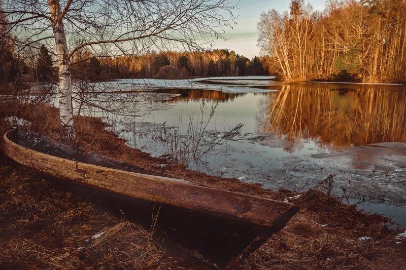 лодка, закат, пейзаж, река, керженец, старая лодка, landscape, sunset Лодки у Керженцаphoto preview