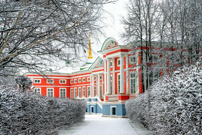 москва, кусково, зима, вечер, moscow, kuskovo, grotto, winter Зима в Кусковоphoto preview