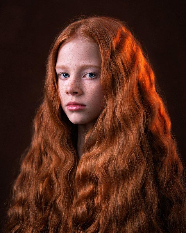 рыжий дети портрет  Света photo preview